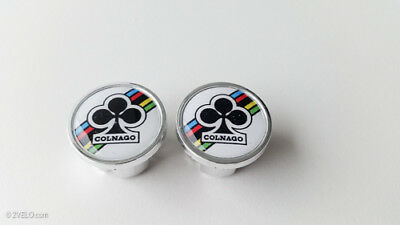 Vintage Style COLNAGO Handlebar End Plugs White • 6.88£