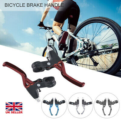2 X Aluminum Alloy MTB Bicycle BMX Road Bike Handle Hand V Bar Brake Levers • 8.99£
