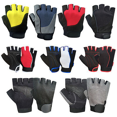New Half Finger Cycling Bike Bicycle Padded Fingerless Sports Motorbike Gloves • 4.99£