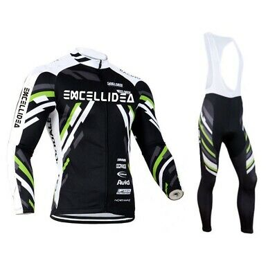 Road BikeTeam Bike Mens Cycling Jersey Long Sleeve Shirt Cycling Jersey Pant Set • 18.76£