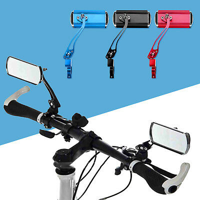 1 Pair Bicycle Cycling Handlebar Rear View Rearview Mirror Rectangle Colourful • 9.99£