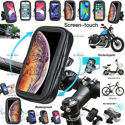 360° Motorbike Bike Bicycle Waterproof Phone Mount Case Holder For Mobile Phones • 10.86£