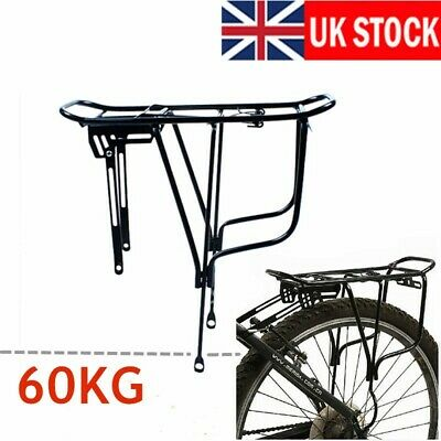 Black Alloy Rear Bicycle Pannier Rack Carrier Bag Luggage Cycle Mountain Bike UK • 13.99£
