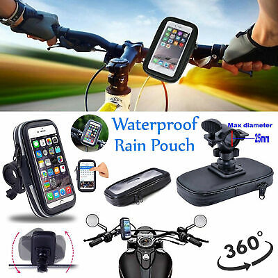 Bike Bicycle 360° Waterproof Phone Case Mount Holder For Various Mobile Phones • 11.38£