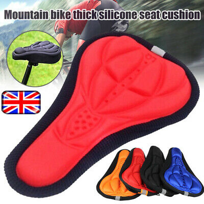Bike Bicycle Silicone 3D Gel Saddle Seat Cover Pad Padded Soft Cushion Comfort • 6.59£