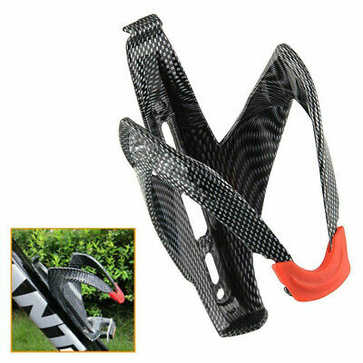 Carbon Fiber Road Bicycle Bike Cycling Water Bottle Drinks Holder Rack Cage MAUK • 4.55£