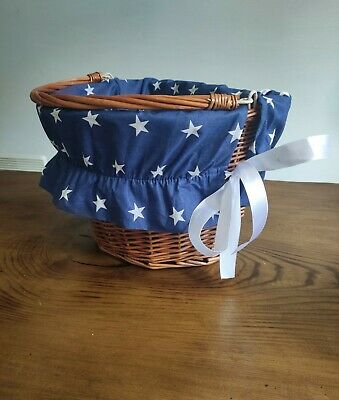 Cotton Liner Front Bike Wicker Basket Insert Fabric Cover Cycling • 10.99£