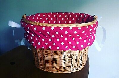 Cotton Liner Bike Wicker Basket Insert Fabric Cover Cycling • 10.99£