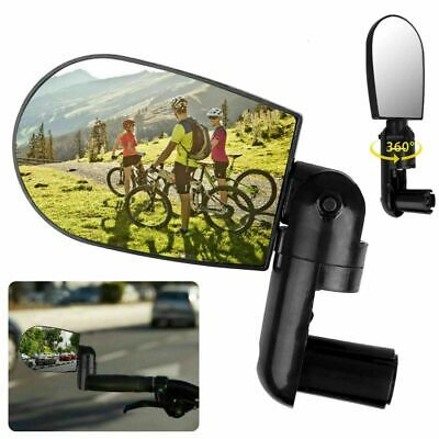 1/2pcs 360° Rotate Bike Bicycle Cycling Side Rear View Handlebar Rearview Mirror • 6.99£