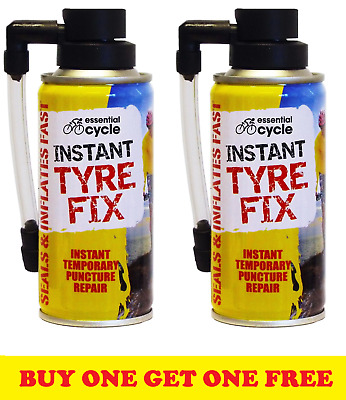 2 X 200ml Instant Bicycle Cycle Bike Puncture Repair Tyre Fix Sealant & Inflates • 5.99£