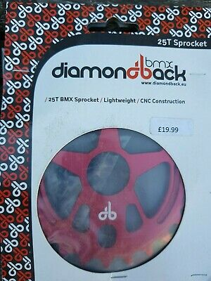 Diamondback 25T Sprocket For BMX Lightweight CNC Construction • 17.99£
