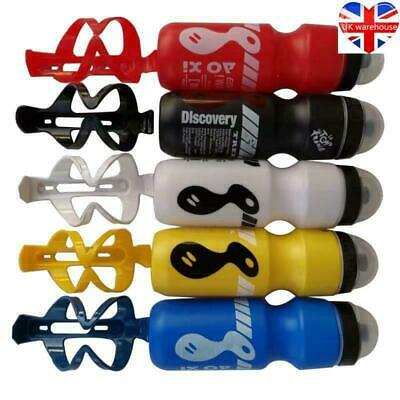 750ML Mountain Bike Bicycle Cycling Water Drink Bottle And Holder Cage Popular • 4.99£