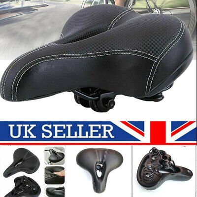 Universal Extra Wide Comfy Cushioned Bicycle Gel Saddle Bike Seat Soft Padded • 12.99£