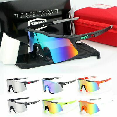 100% Goggles Cycling Glasses Half Frame Sports Windproof Dazzling • 14.98£