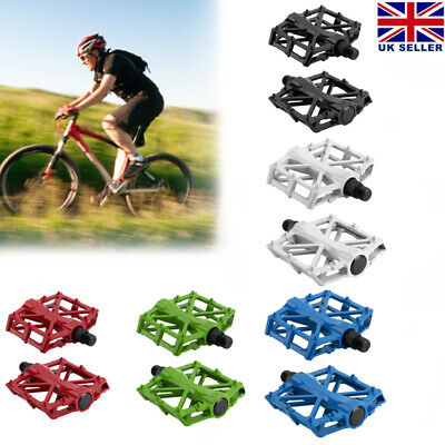 1 Pair MTB Mountain Bike Flat Bicycle Pedals Flat-Platform Aluminium Metal Pedal • 9.40£