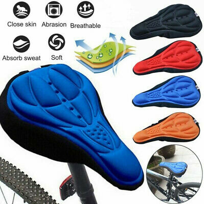 Bike Bicycle Silicone 3D Gel Saddle Seat Cover Pad Padded Soft Comfort Cushion • 2.99£