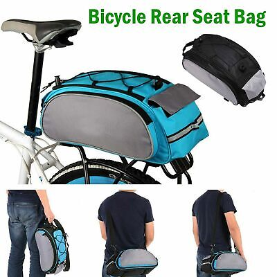 Bicycle Seat Rear Bag Waterproof Bike Pannier Rack Pack Shoulder Cycling Carrier • 8.49£