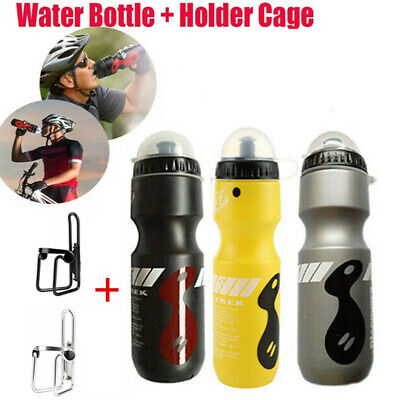 750ML Mountain Bike Bicycle Cycling Water Drink Bottle Sports Holder Cage Kit • 5.99£