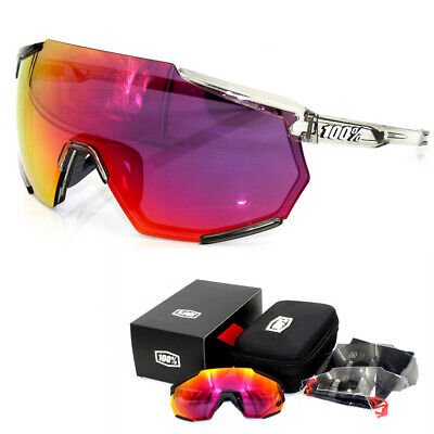 100% Trap Goggles Half Frame Sport Windproof Dazzling Race Hiper Cycling Glasses • 16.87£