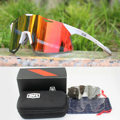 100% HYPER Polarized Cycling Glasses Bike Goggles Driving Sunglasses UV400 • 18.87£