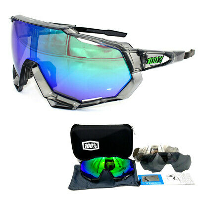 100% Goggles Full Frame Sports Windproof Dazzling Race Hiper Cycling Glasses • 15.98£
