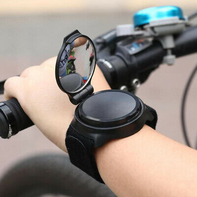 Adjustable Armband Rearview Bicycle Mirror Wrist Band 360° Bike Rear View Mirror • 7.29£