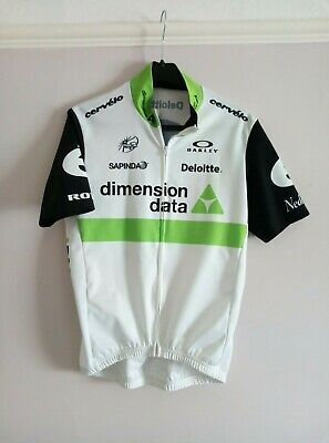 Oakley Dimension Data Cyling Jersey Green White Size 2 Extra Small • 9£