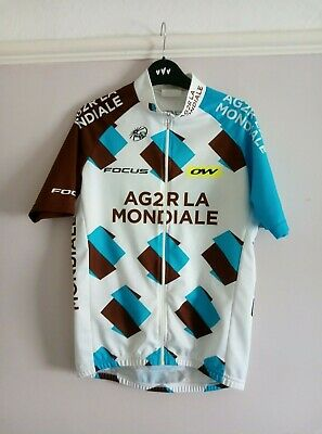AGR2 La Mondiale Cyling Jersey White Size 2 Extra Small • 7.50£