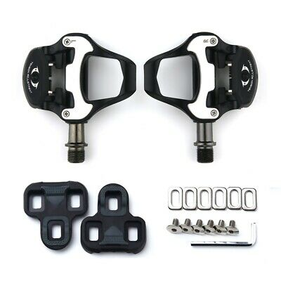 Road Bike Clipless Pedals Flat Platform With Cleats Clips Set For Look Keo • 29.99£