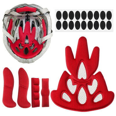 Helmet Inner Padding Kits Bike Motorcycle Replacement Pads Set With Insect Net • 3.47£