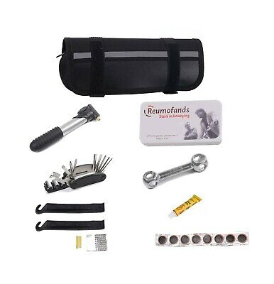 Bike Tool Kit Bicycle Cycling Multi Puncture Repair Kit With Hand Pump • 11.90£