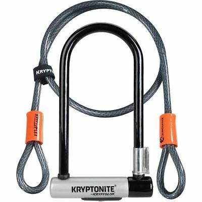 Kryptonite KryptoLok Standard U-lock 4 Foot Kryptoflex Cable SOLD SECURE GOLD • 31.99£