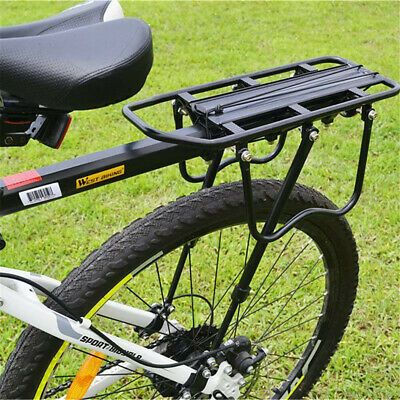 50kg Max Alloy Rear Bicycle Pannier Rack Carrier Bag Luggage Cycle Mountain Bike • 12.93£