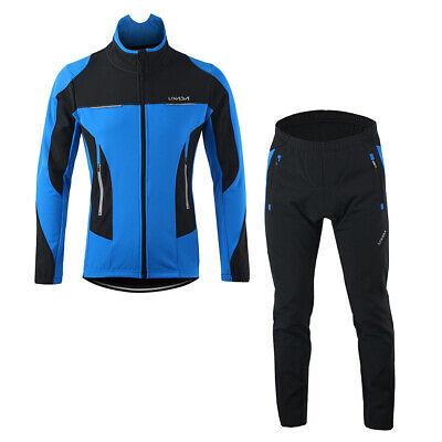 Lixada Men Winter Cycling Clothing Set Windproof Long Sleeve Cycling Jersey W1M6 • 38.97£