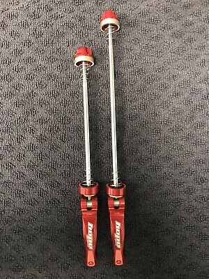 Hope Quick Release Skewers MTB - Red - XC Enduro - Mint - Used On Santa Pace Wow • 1.20£