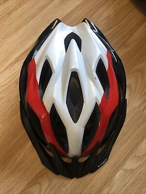 MET Crossover Cycling Helmet Integrated LED Black Red White • 27£