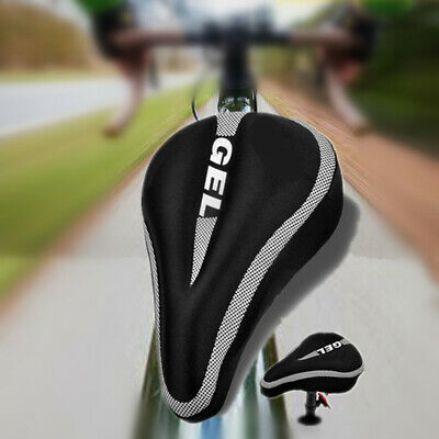 Thicken Seat Cover  Soft Gel Silicone Bicycle Saddle Padded Breathable Non-Slip • 9.94£