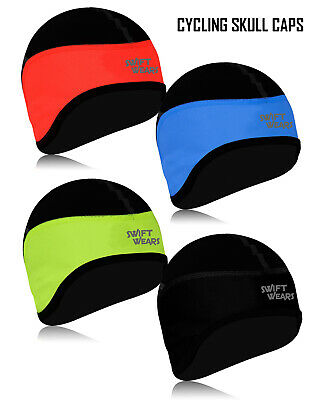 Cycling Skull Caps Windstopper Under Helmet Cycle Winter Thermal Cap One Size UK • 4.49£