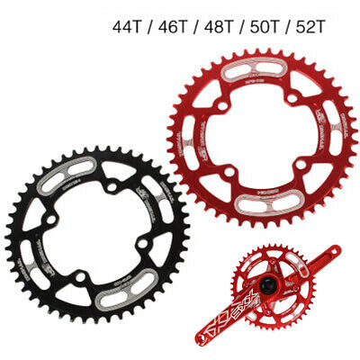 Chainring Round Disc 104mm BCD 44/46/48/50/52T 8-12 Speed Cycling MTB Sprocket • 21.46£