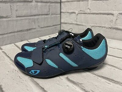Giro Savix Women's UK 6.5 Road Cycling Shoes, Navy RRP £115 • 67.74£