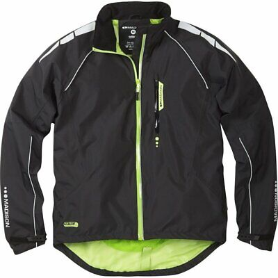 Madison Prime Mens Waterproof Cycling Jacket. Black .  Stock Clearance. RRP £70 • 29.99£