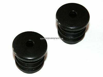 2x HANDLEBAR BUNGS END BLACK CAPS PLUGS FOR RACER ROAD BIKE ATB BICYCLE BUNG • 2.25£