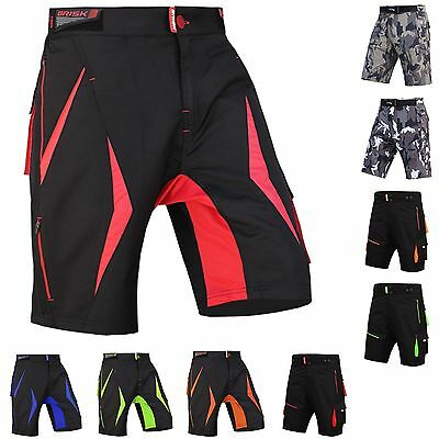 MTB Shorts Men's Bicycle Pants Detachable Compression Padded Shorts Included • 19.99£