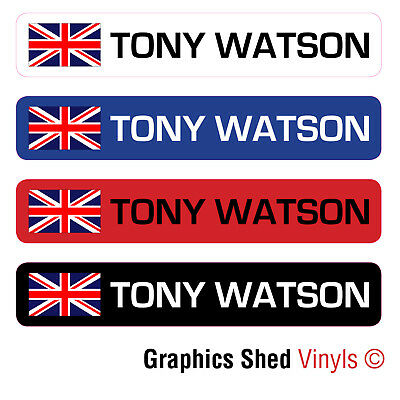 6 X PERSONALISED BIKE FRAME NAME STICKERS ROAD CYCLE CYCLING FRAME HELMET DECALS • 3.95£