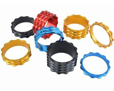 CNC HEADSET SPACERS 1 1/8  28.6mm BICYCLE BIKE LIGHT ALLOY 5 10 15 20 FIXIE MTB • 1.49£