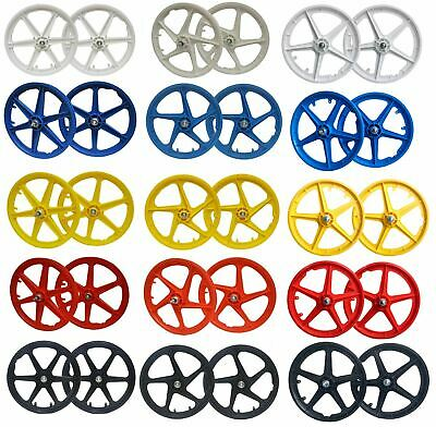 20  BMX Mag Wheelset 5 Or 6 Spoke Freestyle Bike Colour Wheels FRONT & REAR • 38.99£