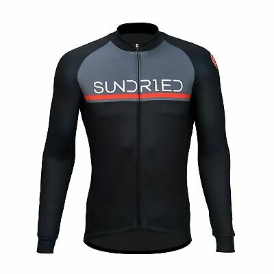 Sundried Mens Long Sleeve Cycling Jersey Road Bike MTB Bicycle Clothing • 23£