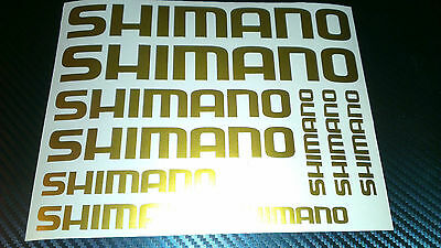 10 X Shimano Bike Vinyl Decal Stickers Frame Cycle Bicycle  • 3.49£