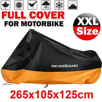 L Waterproof Motorcycle Scooter Bike Cover Storage Outdoor Rain Dust Protector • 12.99£