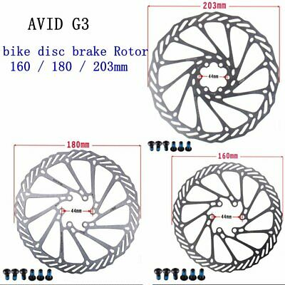 160mm/180mm/203mm Bike Brake Rotors AVID G3 Stainless Bicycle Disc Rotor&6 Bolt • 6.89£